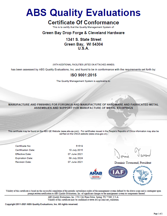 ISO 9001:2021 Certification